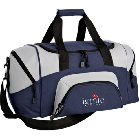 Image of IGNITE church - Small Colorblock Sport Duffel Bag - Kick Merch - 7