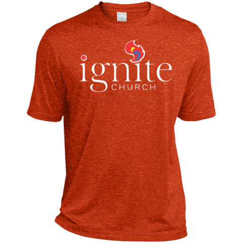 Image of IGNITE church - Heather Dri-Fit Moisture-Wicking Tee for Him - Kick Merch - 1