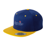 IGNITE church - Flat Bill High-Profile Snapback Hat - Kick Merch - 6