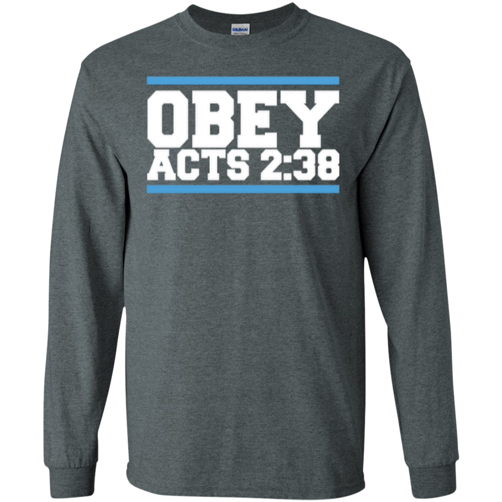 Obey Acts 2:38 - LS Cotton Tshirt - Kick Merch - 2