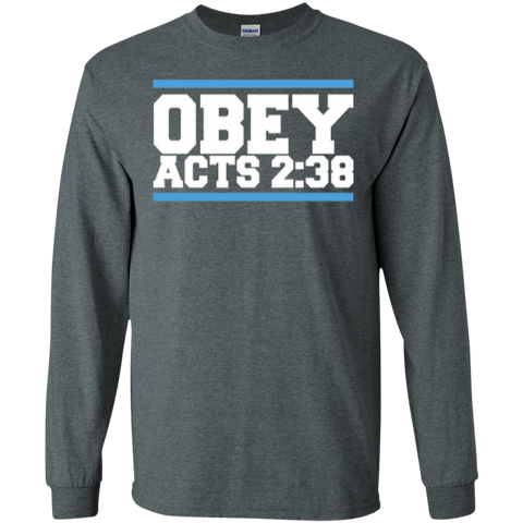 Image of Obey Acts 2:38 - LS Cotton Tshirt - Kick Merch - 2