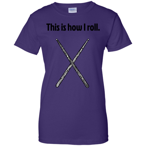 Image of This is how I Roll - Ladies  Cotton T-Shirt  - Purple Bee Designs - Kick Merch - 7