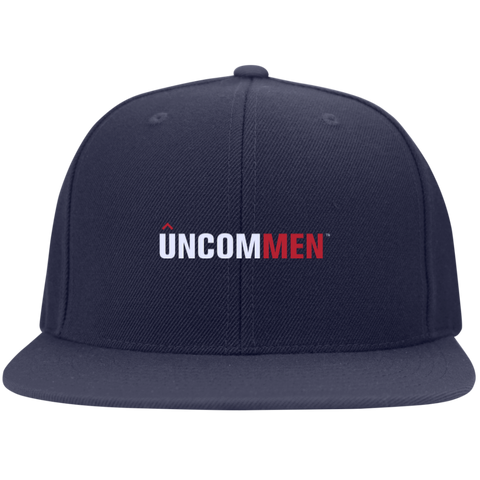 Image of UNCOMMEN Logo - Flat Bill Twill Flexfit Cap