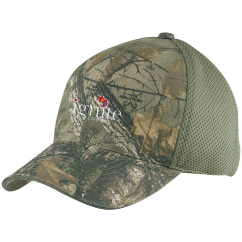 Image of IGNITE church - Camo Cap with Mesh - Kick Merch - 3