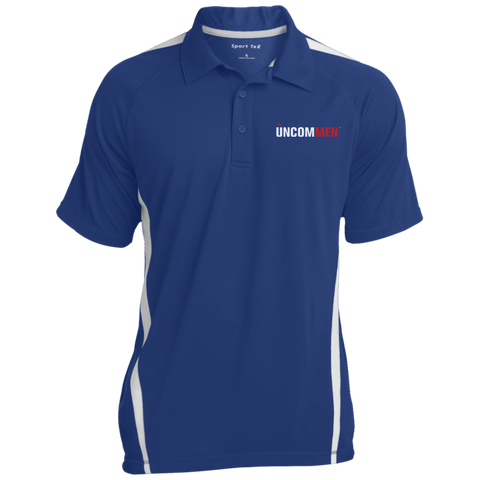Image of UNCOMMEN Logo - Mens Custom Colorblock 3-Button Polo