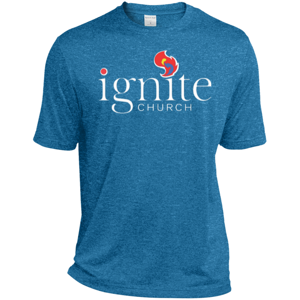 IGNITE church - TALL Heather Dri-Fit Moisture-Wicking Tee - Kick Merch - 1