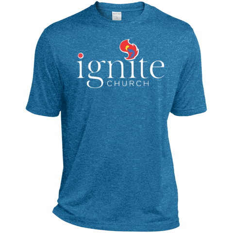 Image of IGNITE church - TALL Heather Dri-Fit Moisture-Wicking Tee - Kick Merch - 1