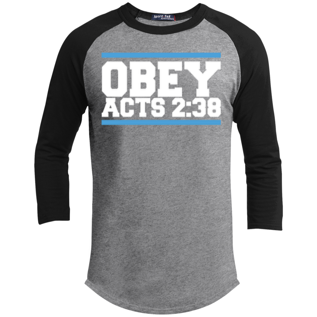 Obey Acts 2:38 - Sporty 3/4 Length Tee Shirt - Kick Merch - 4