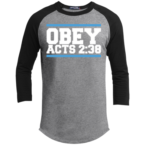 Image of Obey Acts 2:38 - Sporty 3/4 Length Tee Shirt - Kick Merch - 4