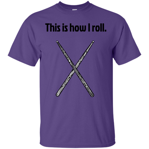 Image of This is how I Roll - Cotton T-Shirt - Purple Bee Designs - Kick Merch - 7