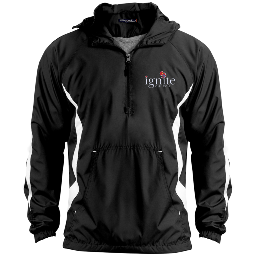 IGNITE church - Unisex Colorblock Raglan Anorak Jacket - Kick Merch - 1