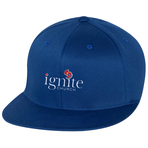 Image of IGNITE church - Flat Bill Twill Flexfit Cap - Kick Merch - 6