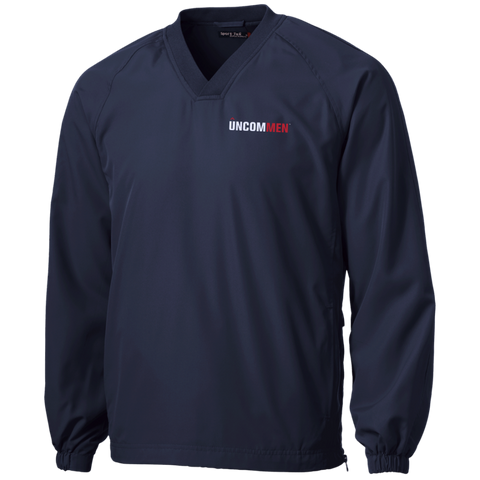 Image of UNCOMMEN Logo - Tall Pullover V-Neck Windshirt