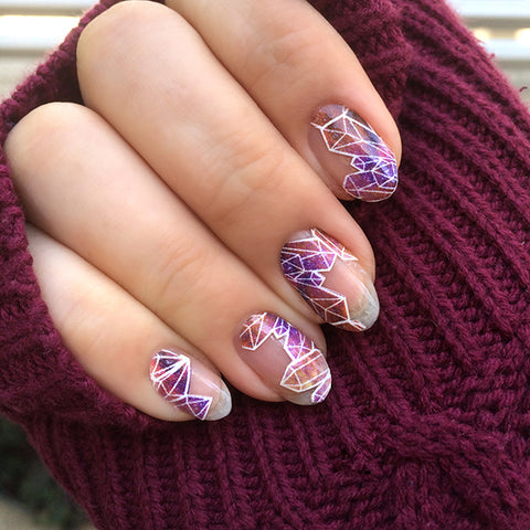 Image of negative space geometric NailSnaps.