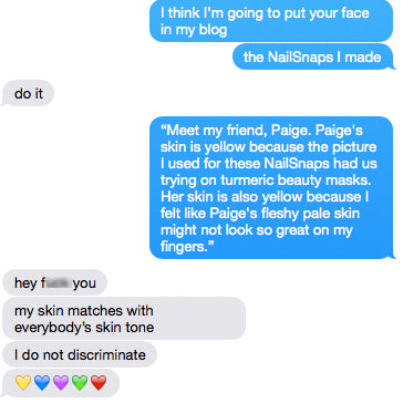 Image showing me messaging Paige