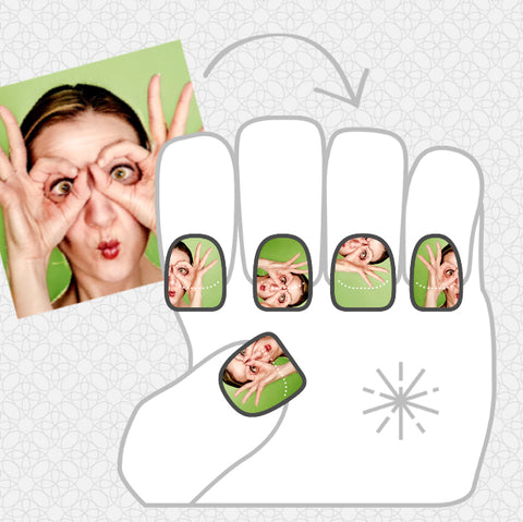 Image showing a goofy stock photo lady on a green background.