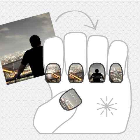 Another image of NailSnaps made with an image of a silhouette.
