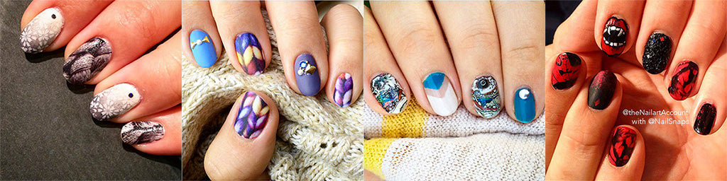 Image compilation showing NailSnaps being used in a larger design story.