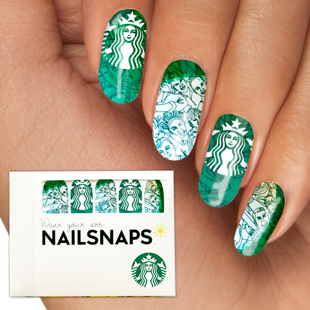 Your brand  as nail wraps in a branded package