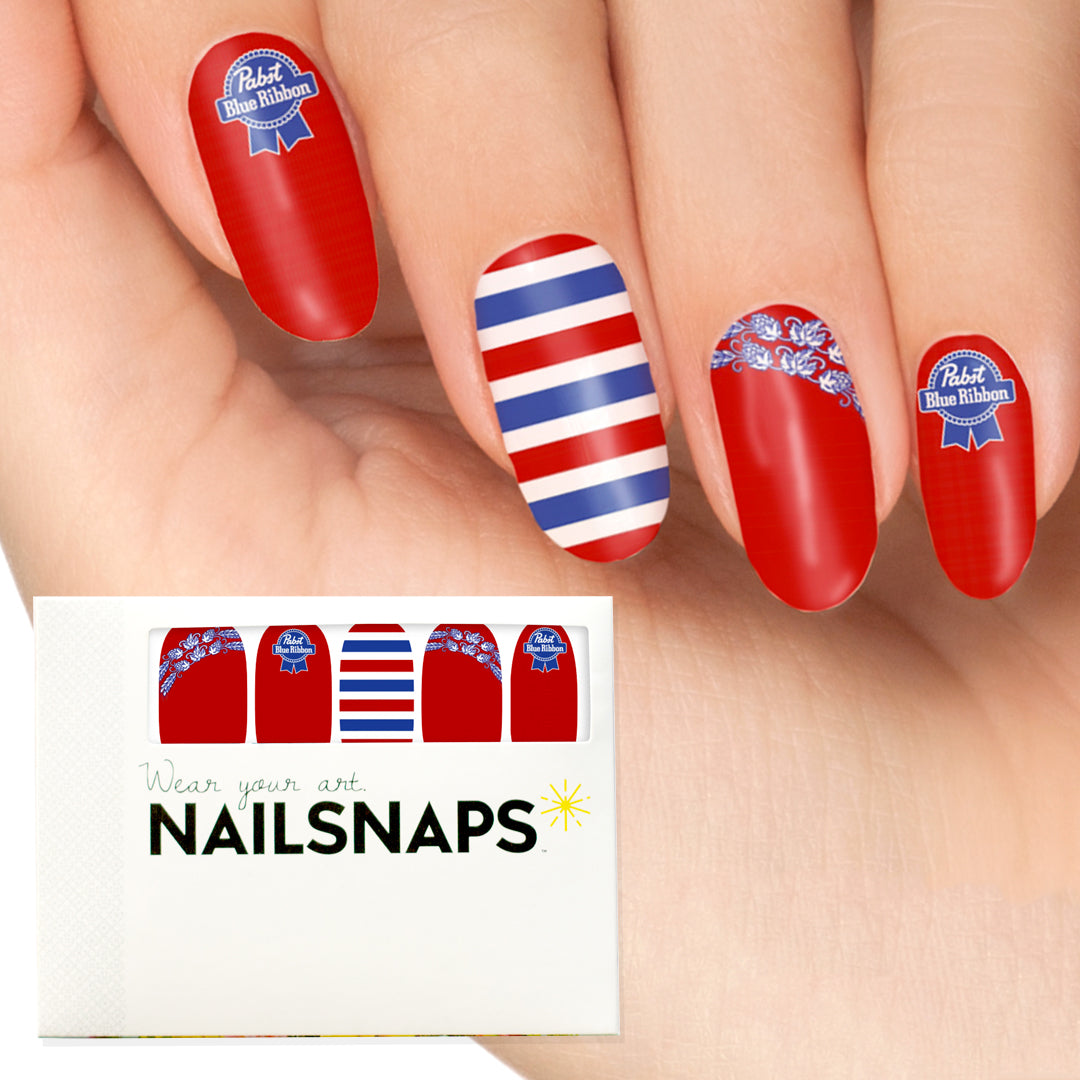 Your brand  as nail wraps in standard NailSnaps package