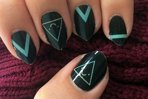 Image showing the good design on my nails, where all design elements have made it