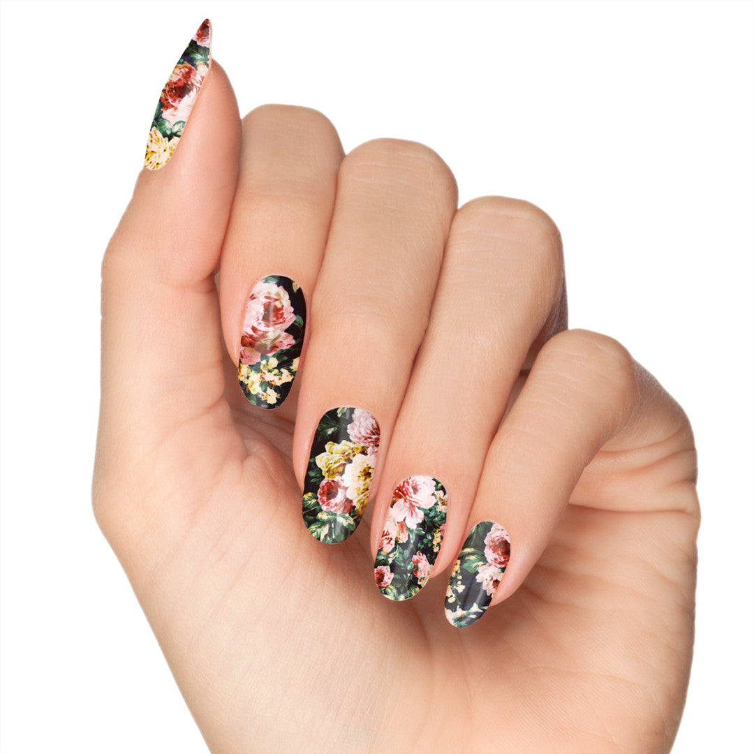 Falling For Florals Nail Design by NailSnaps