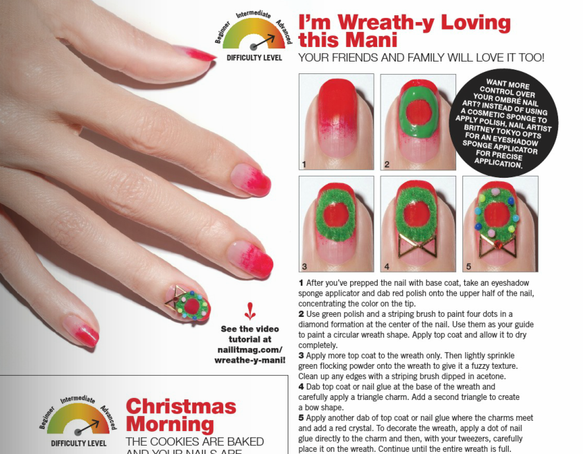 Wreath-y Loving This Mani NailSnaps by NAIL IT! Magazine