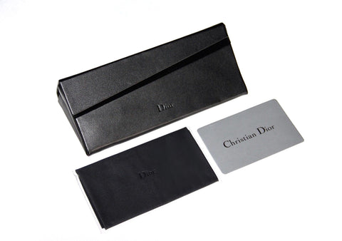 4479ee5037ec CHRISTIAN DIOR AUTHENTICITY CARD  CHRISTIAN DIOR BLACK SUNGLASS CASE   CLEANING CLOTH  DIOR SUNGLASS BOX