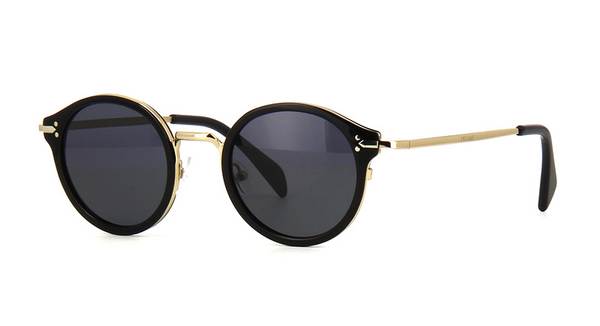 BLACK and GOLD ROUNDED CELINE SUNGLASSES | CL 41082 ANWBN