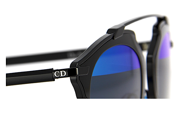 DIOR SO REAL BLACK WITH GRAY & BLUE MIRROR LENS -  - Sunglasses - Sunglass Trend - 3