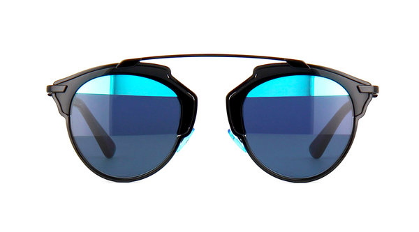 DIOR SO REAL BLACK WITH GRAY & BLUE MIRROR LENS -  - Sunglasses - Sunglass Trend - 2