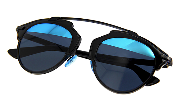 DIOR SO REAL BLACK WITH GRAY & BLUE MIRROR LENS -  - Sunglasses - Sunglass Trend - 10