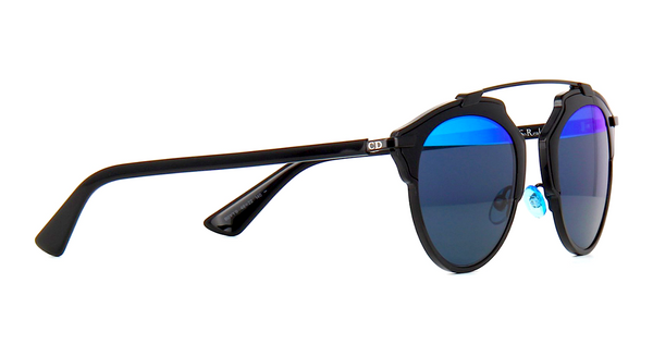DIOR SO REAL BLACK WITH GRAY & BLUE MIRROR LENS -  - Sunglasses - Sunglass Trend - 5