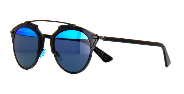 DIOR SO REAL BLACK WITH GRAY & BLUE MIRROR LENS -  - Sunglasses - Sunglass Trend - 8