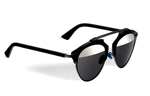 DIOR SO REAL BLACK - GRAY AND SILVER MIRROR LENS -  - Sunglasses - Sunglass Trend - 3