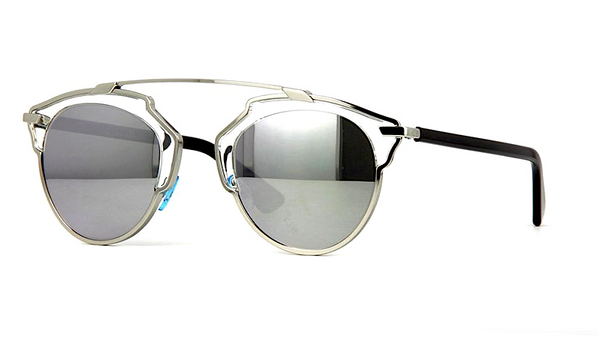 d23ea2060a6f DIOR SO REAL SILVER METAL with SILVER MIRRORED LENS - - Sunglasses -  Sunglass Trend -