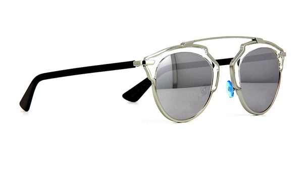 DIOR SO REAL SILVER METAL with SILVER MIRRORED LENS -  - Sunglasses - Sunglass Trend - 4