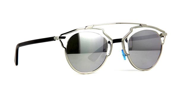 DIOR SO REAL SILVER METAL with SILVER MIRRORED LENS -  - Sunglasses - Sunglass Trend - 3