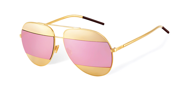 4742d1b30700c4 DIOR SPLIT 1 Rose Gold - Gold and Pink Mirrored lenses – Sunglass Trend