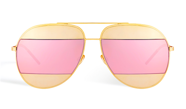 DIOR SPLIT 1 ROSE GOLD - GOLD AND PINK MIRRORED LENSES -  - Sunglasses - Sunglass Trend - 2
