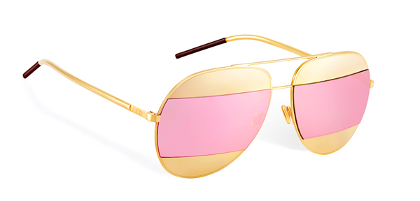 DIOR SPLIT 1 ROSE GOLD - GOLD AND PINK MIRRORED LENSES -  - Sunglasses - Sunglass Trend - 3
