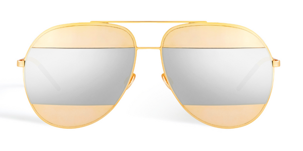 DIOR SPLIT 1 000DC GOLD and SILVER SPLIT LENS -  - Sunglasses - Sunglass Trend - 2
