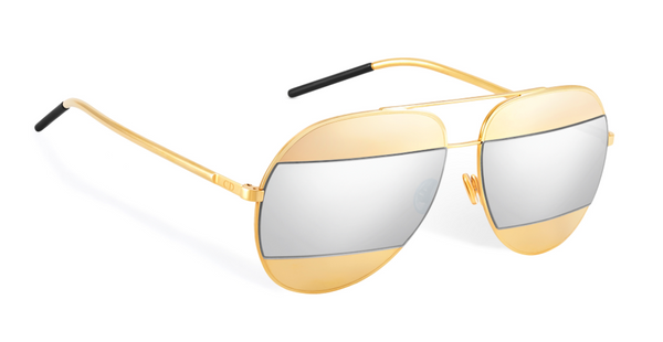 DIOR SPLIT 1 000DC GOLD and SILVER SPLIT LENS -  - Sunglasses - Sunglass Trend - 3