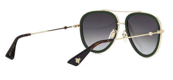 gucci gg 0062s 003 gucci aviator red green