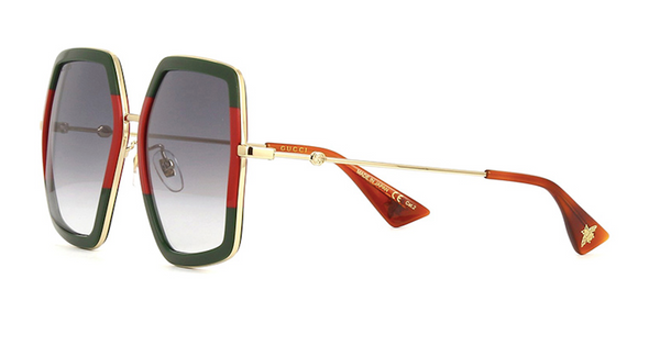 72644d98f8 GUCCI Extra Large Green   Red Sunglasses GG0106s 007 – Sunglass Trend