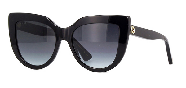 GUCCI Large Black Cat Eye Sunglasses | GG0164s 001