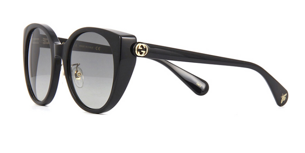 ffb987b622abd GUCCI GG0369S 001 Black Cat Eye Sunglasses