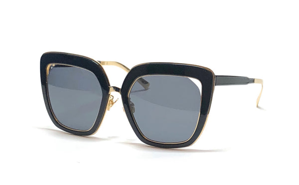Oversized Mira Studios | Black with Gold Trim