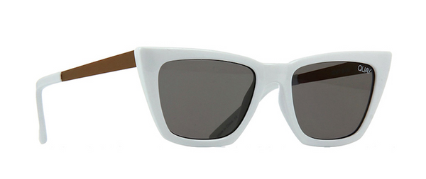 ae5094fd3fa QUAY Australia Don t   Me Cat Eye White Sunglasses