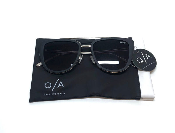 QUAY AUSTRALIA French Kiss Black Sunglasses